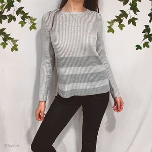 Anthropologie H by Bordeaux Knit Striped Sweater S